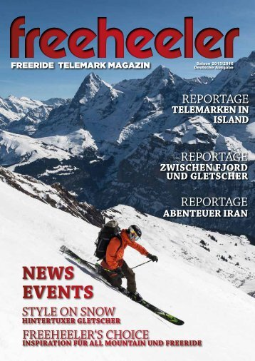 Freeheeler Telemark Magazin 2015/16 deutsch