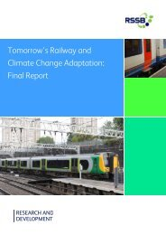 Tomorrow's Railway and Climate Change Adaptation Final Report