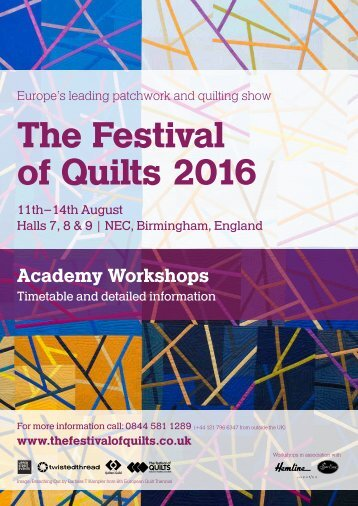 The Festival of Quilts 2016