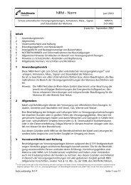 Anweisung zum Schutz unterirdischer Versorgungsleitungen ...