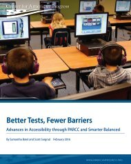 Better Tests Fewer Barriers