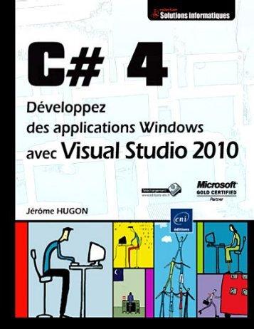 C 4 Developpez des applications windows avec visual studio 2010