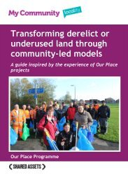 Transforming derelict or underused land through community-led models