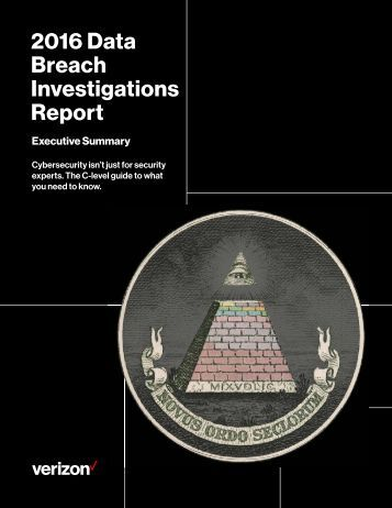 2016 Data Breach Investigations Report