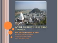 A Trip to Divine Lord Shiva Temples - HolidayKeys.co.uk