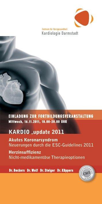 KArdIO -update 2011 - Kardiologie Darmstadt