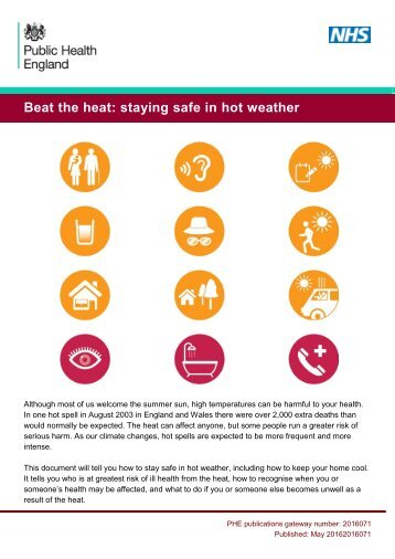 Beat the heat staying safe in hot weather