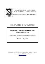 DEMS WORKING PAPER SERIES