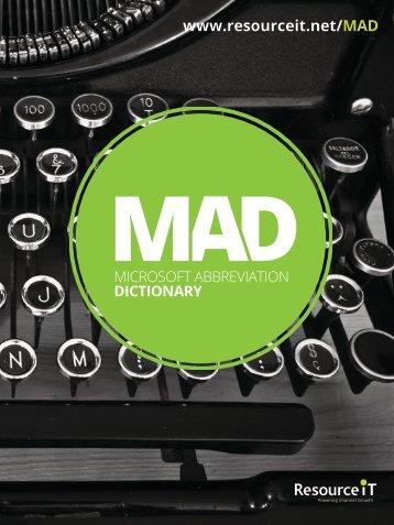 www.resourceit.net/MAD MICROSOFT ABBREVIATION DICTIONARY
