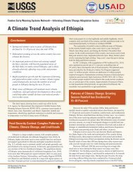 A Climate Trend Analysis of Ethiopia