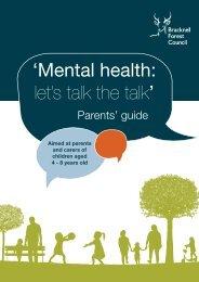 'Mental health let's talk the talk'