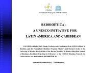 RED LATINOAMERICANA Y DEL CARIBE DE BIOÉTICA ... - Unesco