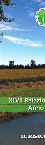 Ente Nazionale Risi - 2014 - XLVII Relazione Annuale