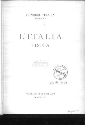 Sestini - 1957 - L' Italia fisica