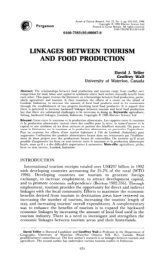 Telfer und Wall - 1996 - Linkages between Tourism and Food Production