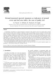 Vaesen et al. - 2001 - Ground-measured spectral signatures as indicators