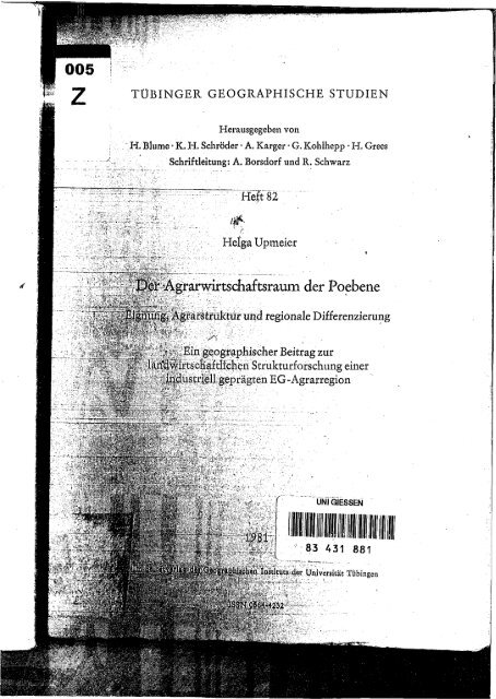 Upmeier - 1981 - Der Agrarwirtschaftsraum der Poebene  Eignung, Ag