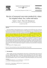 Zwart_Bastiaanssen_2004_Review of measured crop water productivity values for irrigated wheat, rice,