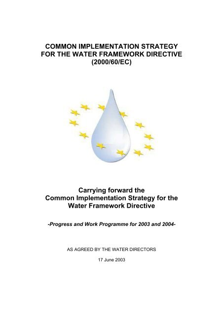 WATECO - 2003 - Common implementation strategy for the Water Frame