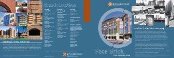 Mutual Materials Facebrick Brochure - Brock White