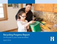 Recycling Progress Report