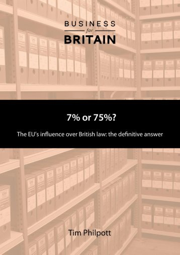 7% or 75%? The definitive answer to the EU's influence over British law