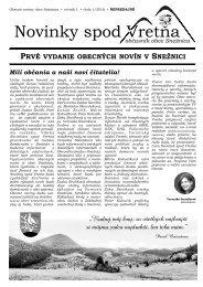 Novinky spod Vretňa 2016 - 1