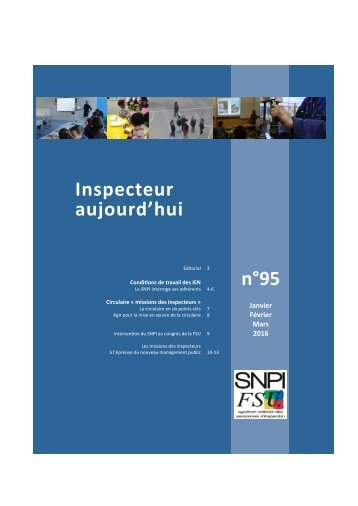 Inspecteur aujourd'hui n°95