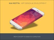 KAI MOTTA - APP DESIGN & DEVELOPMENT