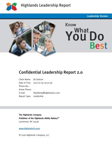 Leadership Report 2.0 Confidential