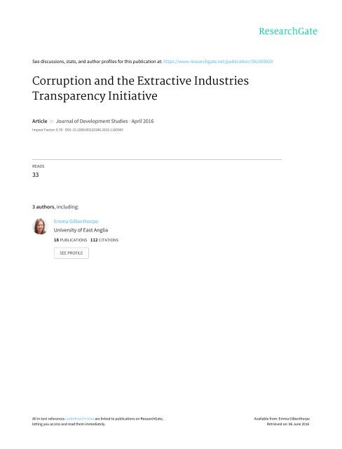 Corruption and the Extractive Industries Transparency Initiative