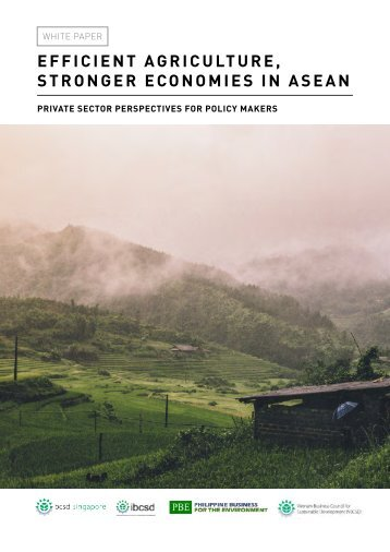 EFFICIENT AGRICULTURE STRONGER ECONOMIES IN ASEAN