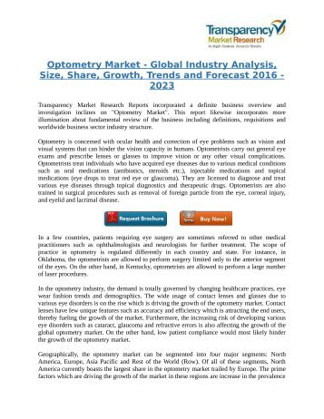 Optometry Market