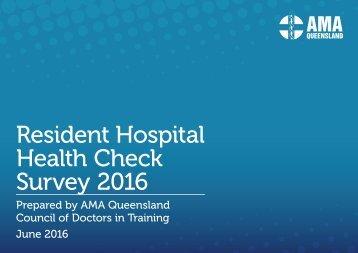 Resident Hospital Health Check Survey 2016