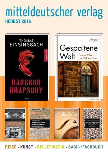 2016 Mitteldeutscher Verlag Herbst Katalog