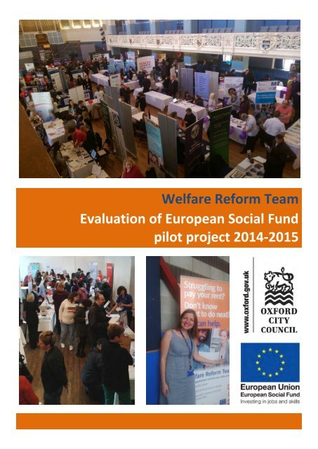 Welfare Reform Team Evaluation of European Social Fund pilot project 2014-2015