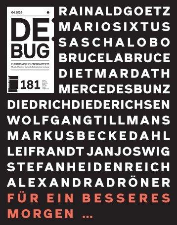 De:Bug 181
