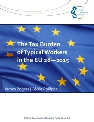 The Tax Burden of Typical Workers in the EU 28—2015