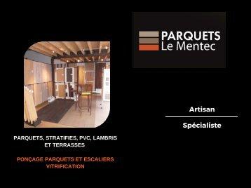 Plaquette Entreprise Parquets Le Mentec  2016
