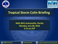 Tropical Storm Colin Briefing