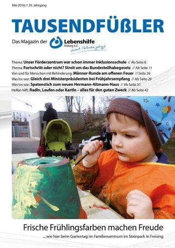 2016 Mai / Lebenshilfe Freising / Tausendfüßler-Magazin