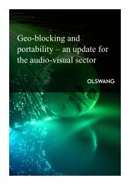 Geo-blocking and portability – an update for the audio-visual sector