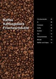 Kaffee Kaffeegebäck Frischeprodukte - Gusto AG