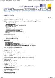 Karl-Franzens-Universität Graz - Newsletter 2011/03