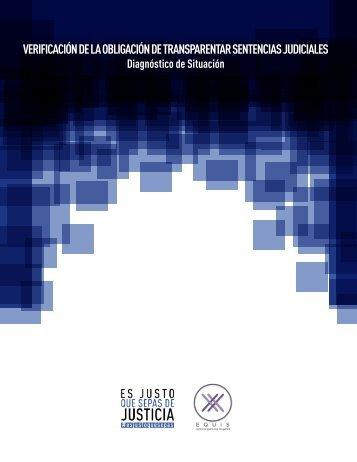 VERIFICACIÓN DE LA OBLIGACIÓN DE TRANSPARENTAR SENTENCIAS JUDICIALES