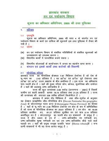 kj[kaM ljdkj Oku ,oa Ik;kZoj.k foHkkx - Jharkhand