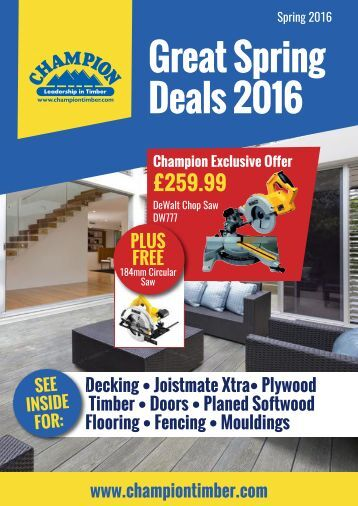 Great Spring Deals 2016