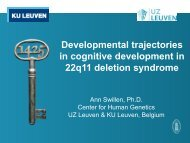 in cognitive development in 22q11 deletion syndrome