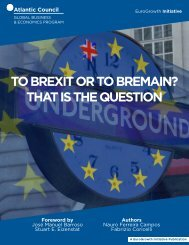 TO BREXIT OR TO BREMAIN? THAT IS THE QUESTION