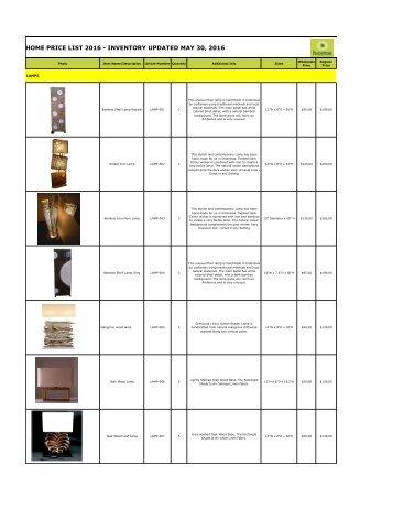 Bhome catalog wholesale lamps